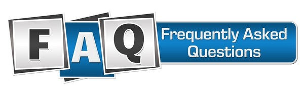 FAQ capital letters graphic