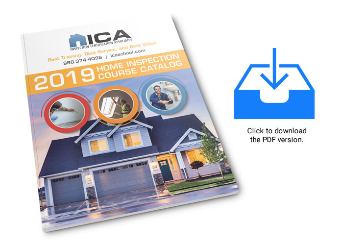 2019 Home Inspection Course Catalog